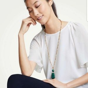 Ann Taylor Green and Gold Necklace